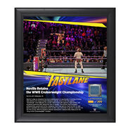 Neville FastLane 2017 15 x 17 Framed Plaque w Ring Canvas