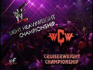 WCW Cruiserweight Championship and WWF Light Heavyweight Championship