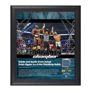 Kalisto & Apollo Crews Elimination Chamber 2017 15 x 17 Framed Plaque w Ring Canvas