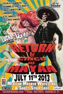 Lucha VaVoom Return of Cinco De Mayan 2013 Poster