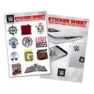 WWE Assorted Superstar Sticker Sheet