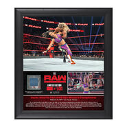 Bayley 1st RAW Women's Championship Reign 15 x 17 Framed Plaque w Ring Canvas
