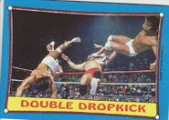 1987 WWF Wrestling Cards (Topps) Double Dropkick 33