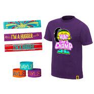Bayley Hug Like A Champ Halloween Youth T-Shirt Package