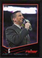 2013 WWE (Topps) Justin Roberts (No.20) Black