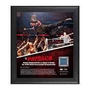 Roman Reigns Payback 2016 15 x 17 Framed Ring Canvas Photo Collage