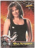 1999 WCW Embossed (Topps) Miss Elizabeth 72