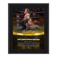 Chris Jericho Clash of Champions 2016 10 x 13 Photo Plaque