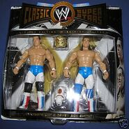 WWE British Bulldogs Jakks Classic Superstars Dynamite Kid & Davey Boy Smith with Matilda