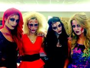Paige, Emma, Eva Marie, Lana 2013 NXT Halloween