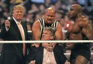 Trump+McMahon+Austin+Lashley+at+WM23