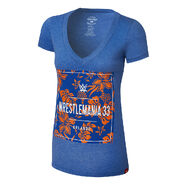 WrestleMania 33 Floral Women's V-Neck T-Shirt