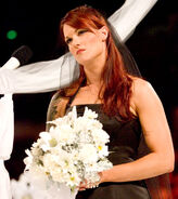 Lita at her wedding with Kane