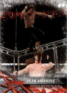 2017 WWE Road to WrestleMania Trading Cards (Topps) Dean Ambrose 2