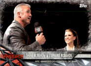2017 WWE Road to WrestleMania Trading Cards (Topps) Shane McMahon & Stephanie McMahon 82