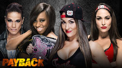 Payback 2015 - Naomi & Tamina vs. The Bella Twins