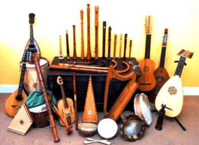 Minstrels instruments
