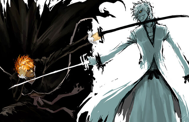 File:Bleach ichigo v s ichigo hollow by wrath and wesley-d51po6x.jpg