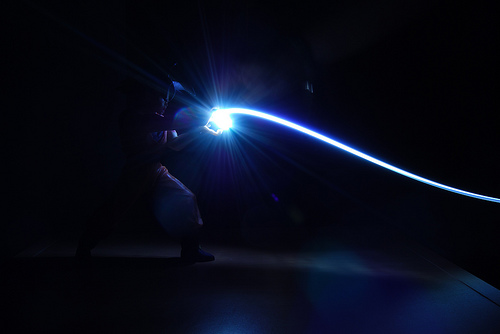 File:Light Graffiti - Goku.jpg
