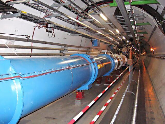 File:CERN LHC Tunnel1.jpg