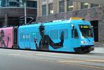 Wrap advertising light rail