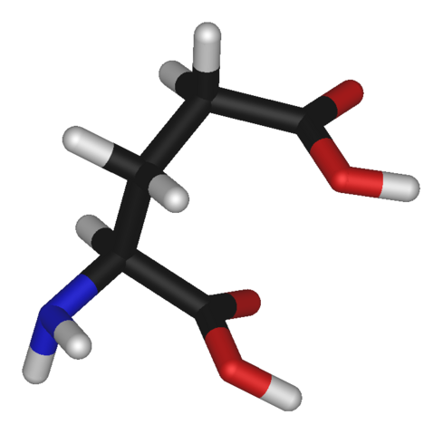 File:L-glutamic-acid-3D-sticks.png
