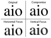 Astigmatism text blur