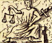 Iustitia Papstgrab Bamberg aus Gottfried Henschen u Daniel Papebroch 1747