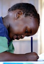 Child with pencil