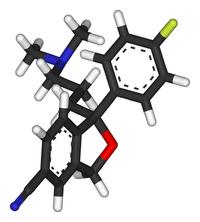 R-(−)-citalopram-3D-sticks