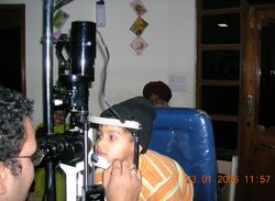Slit lamp Eye examination by Ophthalmologist