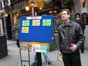 Street preacher in Covent Garden 1