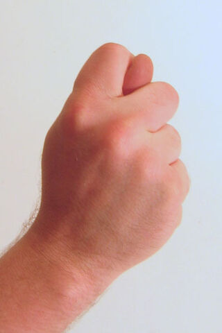 File:Gesture fist with thumb through fingers.jpg