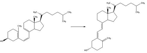 Reaction-PrevitaminD3-VitaminD3