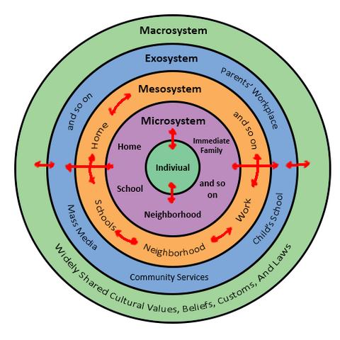 File:Urie Bronfenbrenners Bioecological Model.png