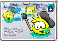 Yellow Puffle postcard