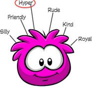 Hot pink puffle