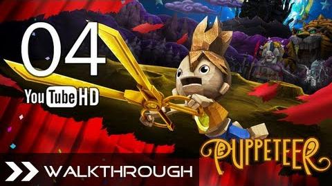 Puppeteer Walkthrough - Gameplay Part 4 (Who to Trust - Act 2 Curtain 1 - Gate Boss Battle) HD 1080p PS3 No Commentary