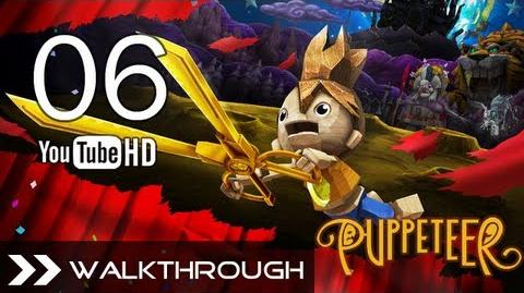 Puppeteer Walkthrough - Gameplay Part 6 (Who to Trust - Act 2 Curtain 3 - Snake Boss Battle) HD 1080p PS3 No Commentary