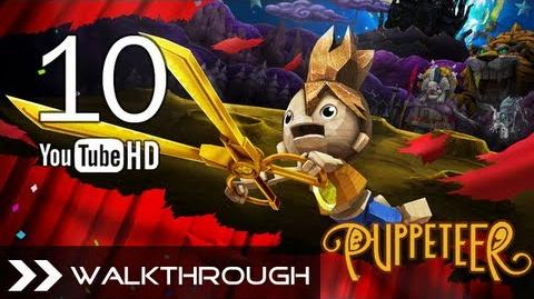 Puppeteer Walkthrough - Gameplay Part 10 (High Noon - Act 4 Curtain 1 - Gunslinger Boss) HD 1080p PS3 No Commentary