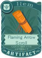 Flaming Arrow Scroll