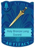 Holy Bronze Long Sword