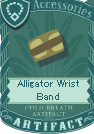 Alligator wrist band