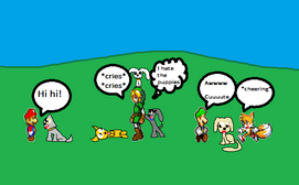 The Smash characters and the puppies