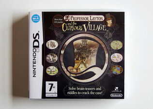 Professor Layton and the Curious Village (UK version, front)