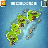 THE SORE SHORES III map