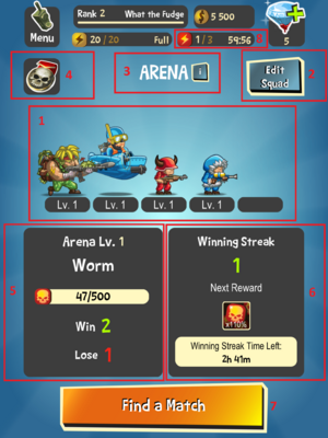 Arena Page