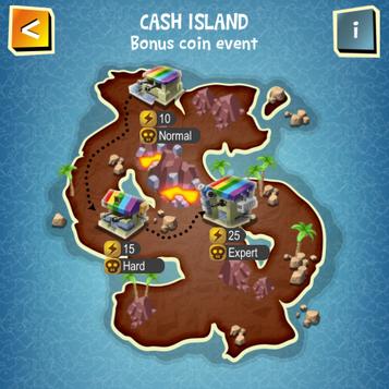 CASH ISLAND map