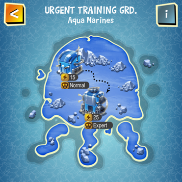 URGENT TRAINING GRD. Aqua Marines map
