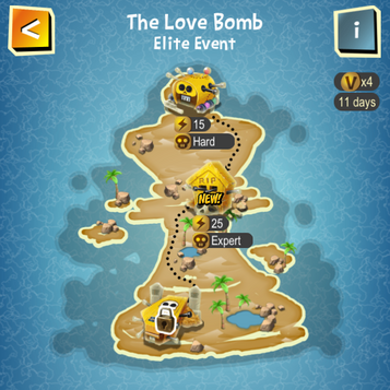 The Love Bomb map